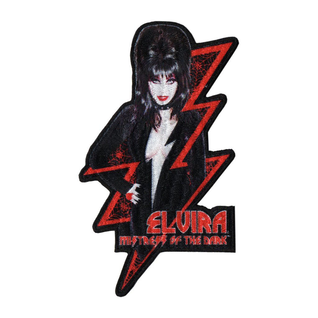 Elvira Lightening Bolt Patch by Kreepsville 666 (EP792)