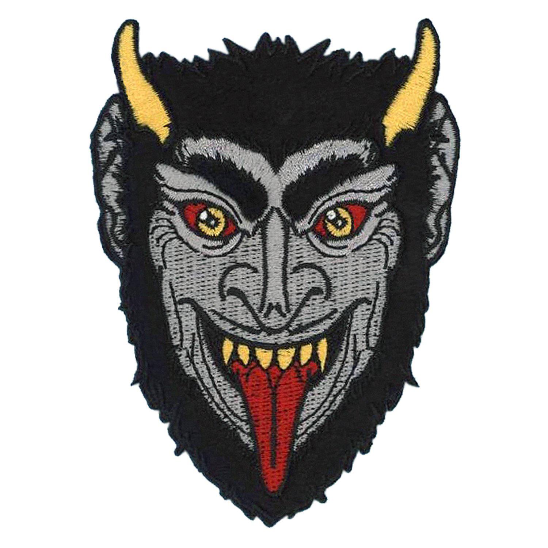 Krampus Fuzzy Embroidered Patch by Kreepsville 666 (ep755)