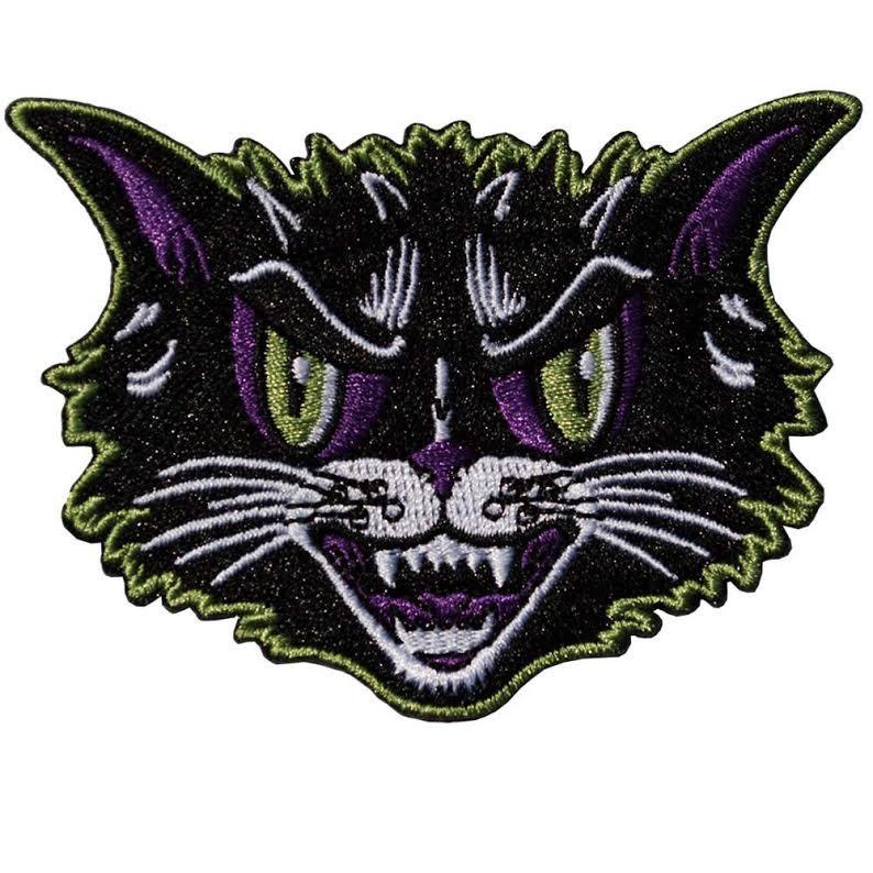 Kattitude Halloween Cat Patch by Kreepsville 666 (ep648)
