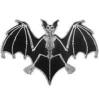 Skelli Bones Bat Embroidered Patch by Kreepsville 666 (ep954)