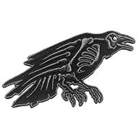 Skelli Bones Raven Embroidered Patch by Kreepsville 666 (ep955)