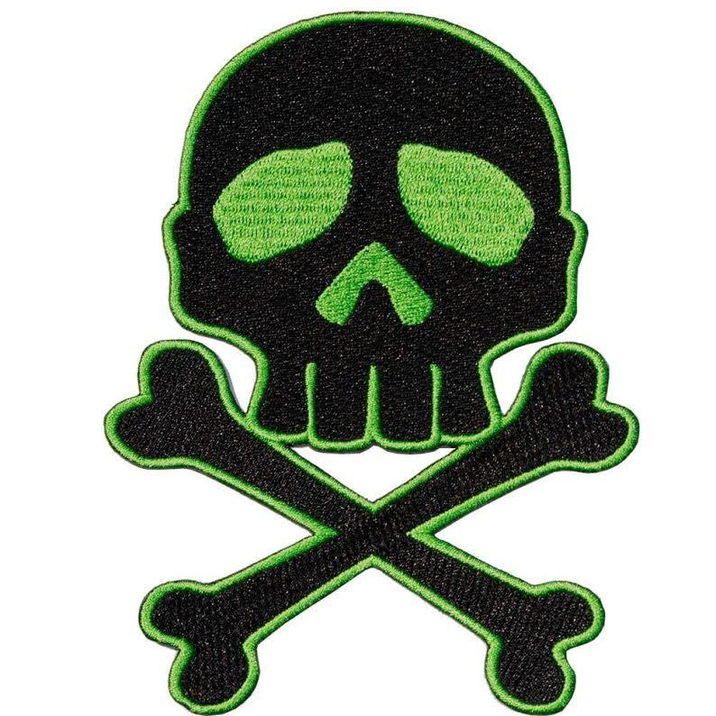 Green & Black Captain Harlock Skull & Crossbones Patch by Kreepsville 666 (ep723)