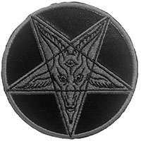 Baphomet Satanic Cirlce in Black Embroidered Patch by Kreepsville 666 (EP975)