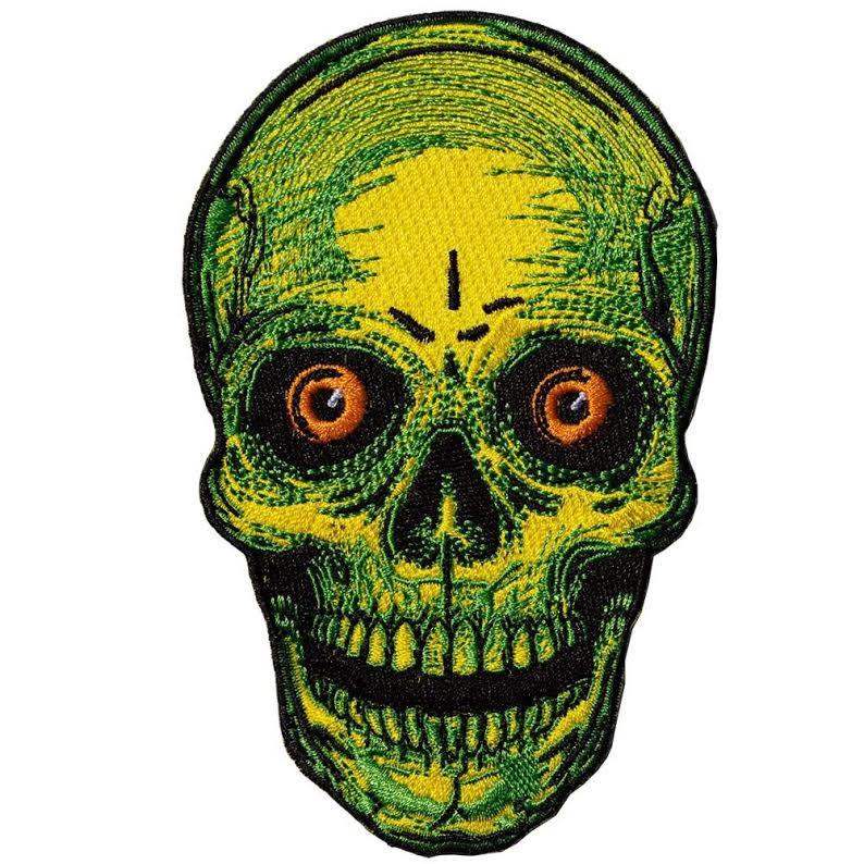 Staring Yellow Skull Patch by Kreepsville 666 (ep649)
