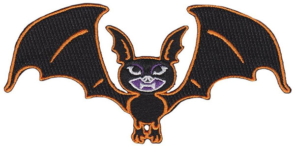 Vintage Bat Embroidered Patch by Kreepsville 666 (EP722)