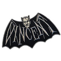 Vincent Price Devil Bat Embroidered Patch by Kreepsville 666 (EP972)
