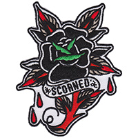 Scorned Tattoo Rose Embroidered Patch by Sourpuss (ep658)