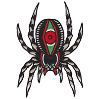 Tarantula Tattoo Embroidered Patch by Sourpuss (EP977)