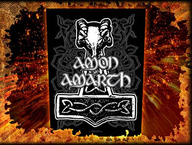 Amon Amarth- Hammer Sewn Edge Back Patch (bp3)