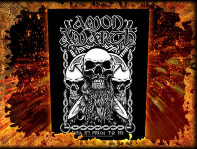 Amon Amarth- Skulls Sewn Edge Back Patch (bp4)