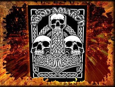Amon Amarth- Three Skulls Back Patch (bp5)