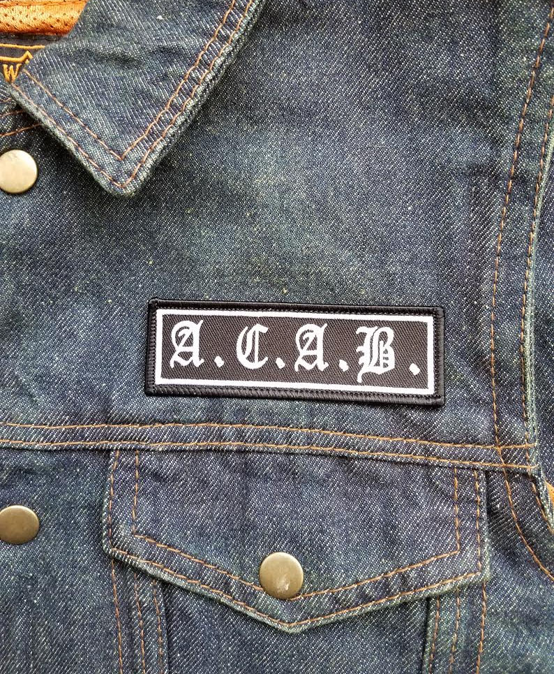 A.C.A.B. Embroidered Patch (All Cops Are Bastards)