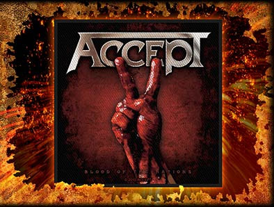 Accept- Blood Of The Nations Woven Patch (EP511)