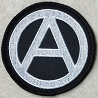 Anarchy (Black/White) Embroidered Patch