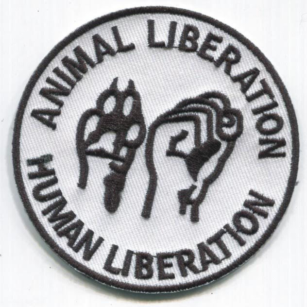 Animal Liberation Human Liberation Embroidered Patch