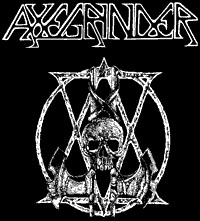 Axegrinder- Skulls & Axes cloth patch (cp217)