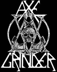 Axegrinder- Skull & Axes back patch (bp496)