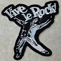 Vive Le Rock! Embroidered Patch
