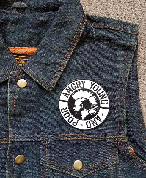Angry Young And Poor- Mohawk embroidered patch