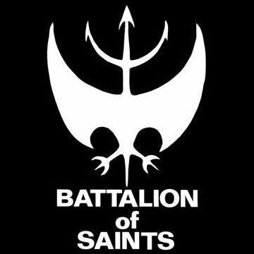 Battalion Of Saints- Bat Symbol back patch (bp462)