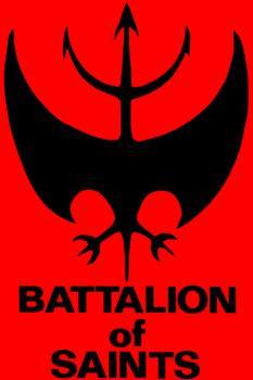 Battalion Of Saints- Bat (Red) cloth patch (cp219)