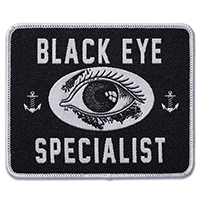 Tip Top Black Eye Specialist (Barber) Iron On Embroidered Patch (ep916)