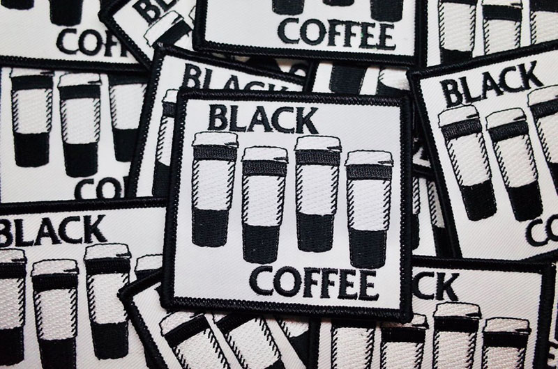 Black Coffee Patch by Bort's Pin Emporium (EP800)