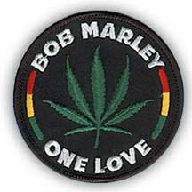 Bob Marley- One Love (Marijuana) embroidered patch (ep468)