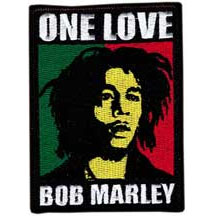 Bob Marley- One Love (Face) embroidered patch (ep438)