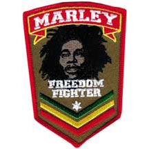 Bob Marley- Freedom Fighter embroidered patch (ep437)