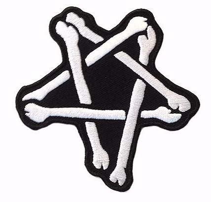 Bone Star Embroidered Patch by Scumbags & Superstars (ep277)