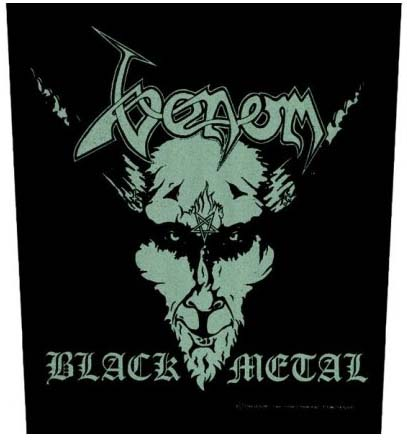 Venom- Black Metal Sewn Edge Back Patch (bp8)