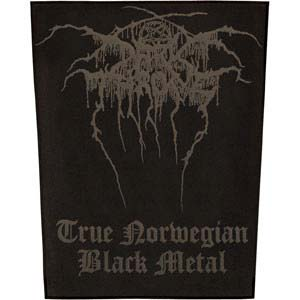 Darkthrone- True Norwegian Black Metal Sewn Edge Back Patch (bp12)