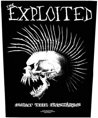 Exploited- Beat The Bastards Sewn Edge Back Patch (bp13)