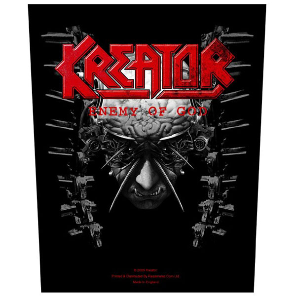 Kreator- Enemy Of God Sewn Edge Back Patch (bp67)