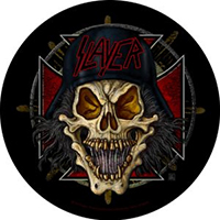 Slayer- Color Wehrmacht Round Sewn Edge Back Patch (bp120)