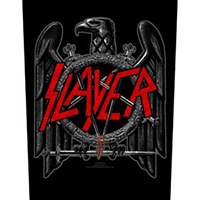 Slayer- Black Eagle Sewn Edge Back Patch (bp101)