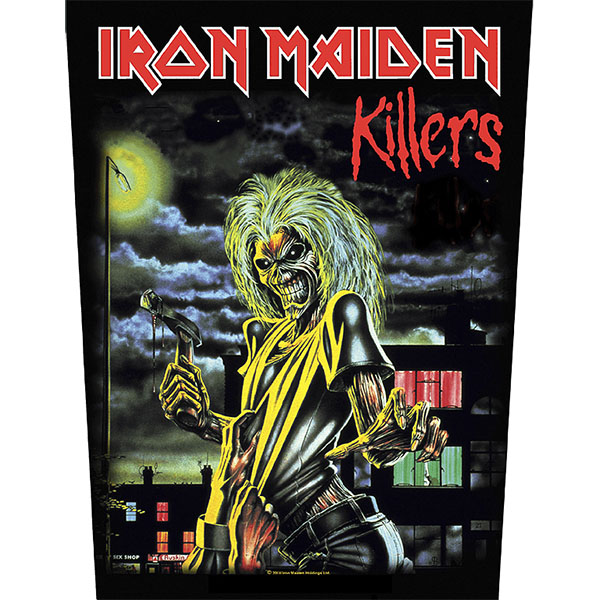 Iron Maiden- Killers Sewn Edge Back Patch (bp26)