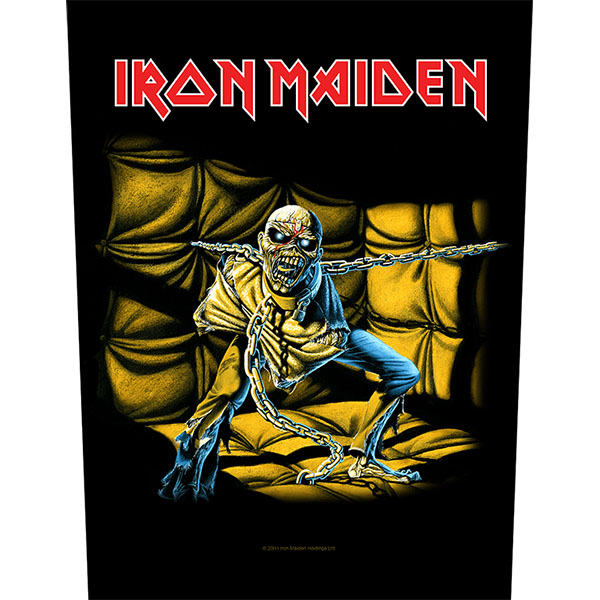 Iron Maiden- Piece Of Mind Sewn Edge Back Patch (bp69)