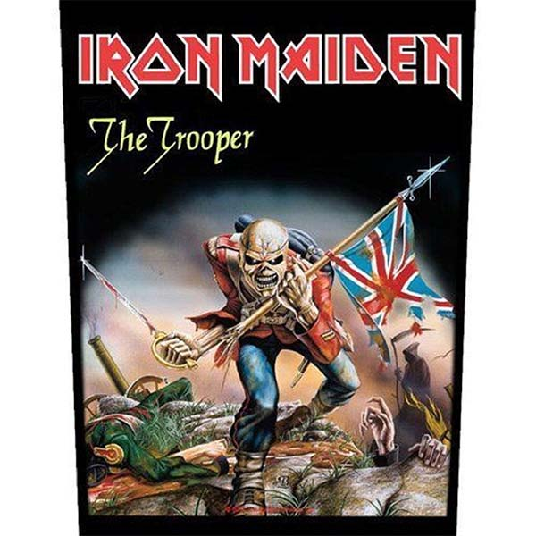 Iron Maiden- The Trooper Sewn Edge Back Patch (bp27)