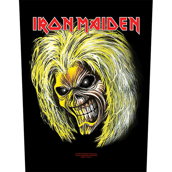 Iron Maiden- Eddie Face Sewn Edge Back Patch (bp71)