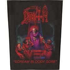 Death- Scream Bloody Gore Sewn Edge Back Patch (bp30)