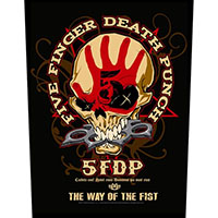 Five Finger Death Punch- The Way Of The Fist Sewn Edge Back Patch (bp132)