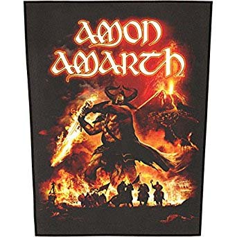 Amon Amarth- Surtur Rising Sewn Edge Back Patch (bp31)