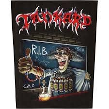 Tankard- RIB (Rest In Beer) Sewn Edge Back Patch (bp35)