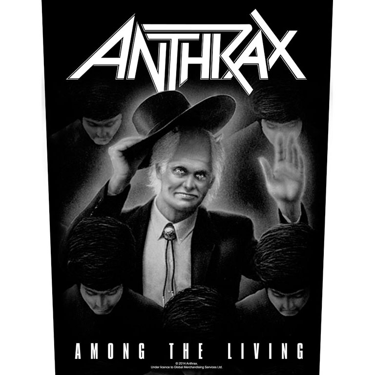 Anthrax- Among The Living Sewn Edge Back Patch (bp53)