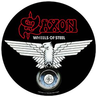 Saxon- Wheels Of Steel Sewn Edge Back Patch (bp114)