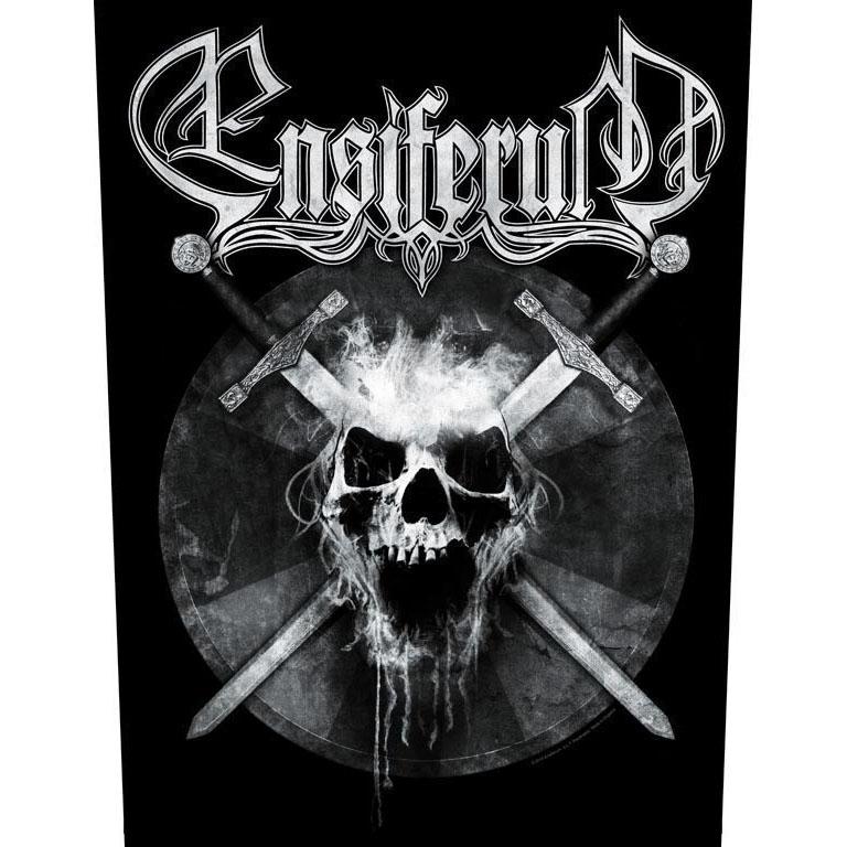 Ensiferum- Skull Sewn Edge Back Patch (bp56)