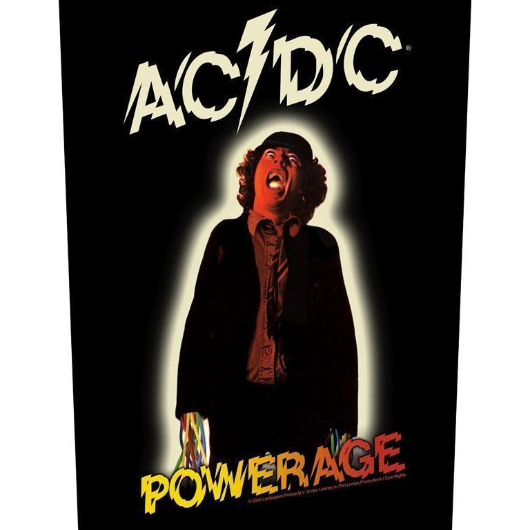 AC/DC- Powerage Sewn Edge Back Patch (bp58)