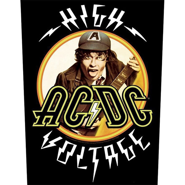 AC/DC- High Voltage Sewn Edge Back Patch (bp60)